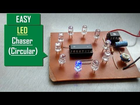 How To Make Led Chaser Very Easy Circular Led Chaser Running Led S Led Led Cube Arduino Led Matrix