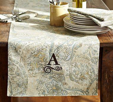 Fresco Paisley Table Runner Potterybarn Paisley Table
