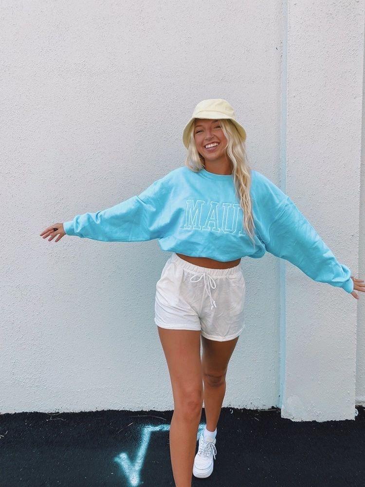 Pastel beach sweatshirt