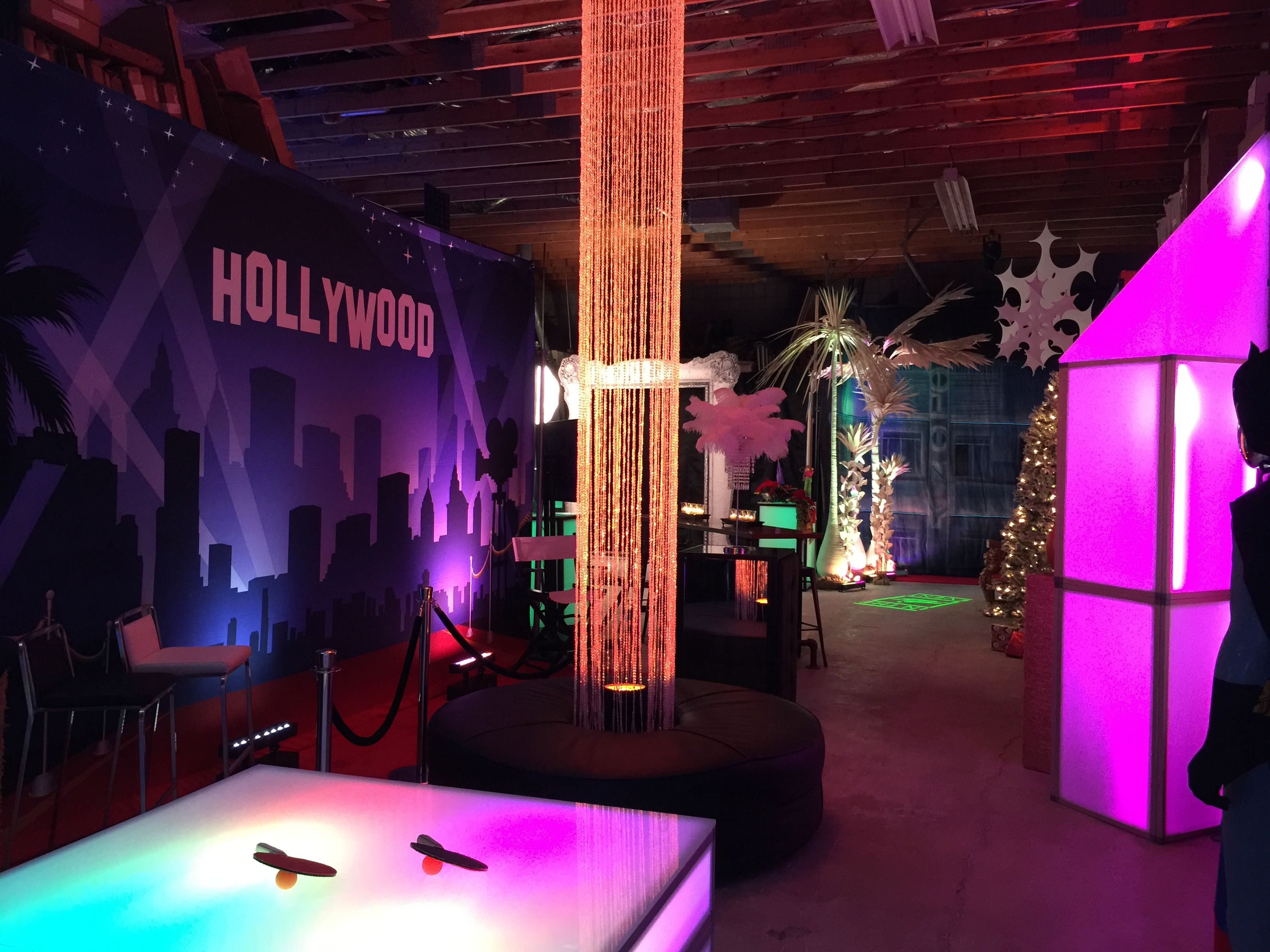 Ping Pong Table · In The Event | This Picture Is Featuring Our LED Wall  Washes, Hollywood Backdrop,