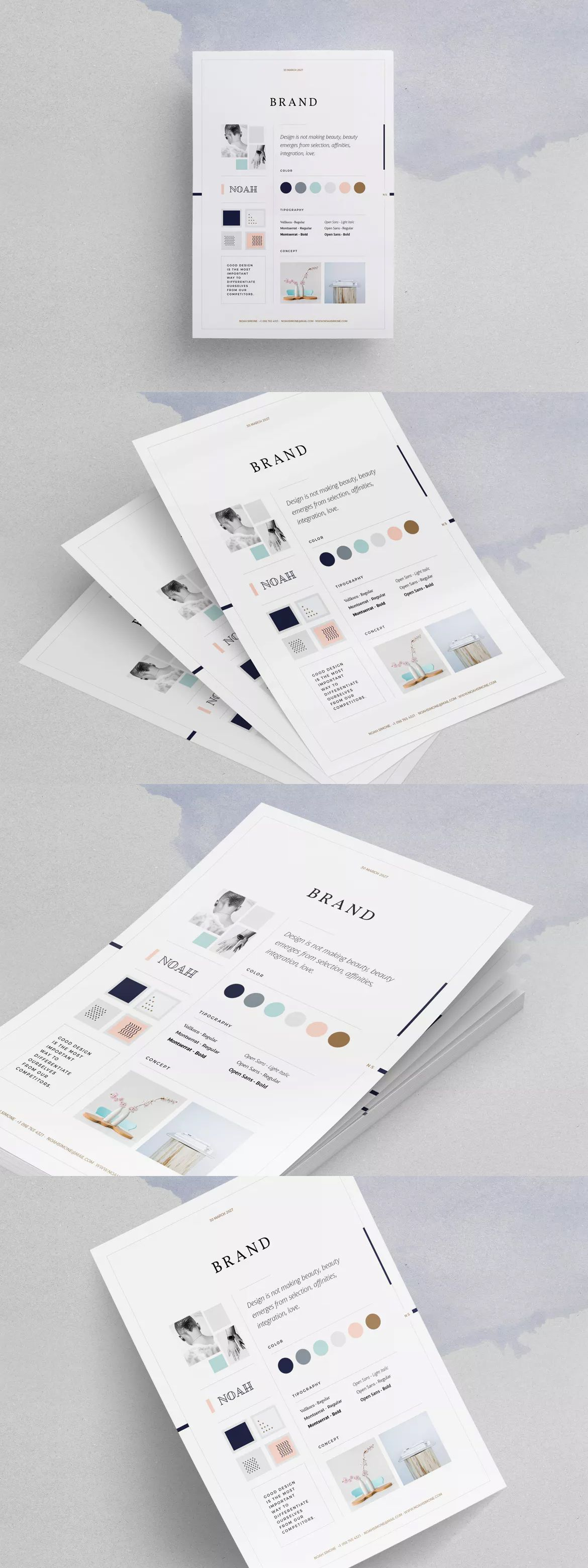 design branding proposal template indesign indd a4 and us letter