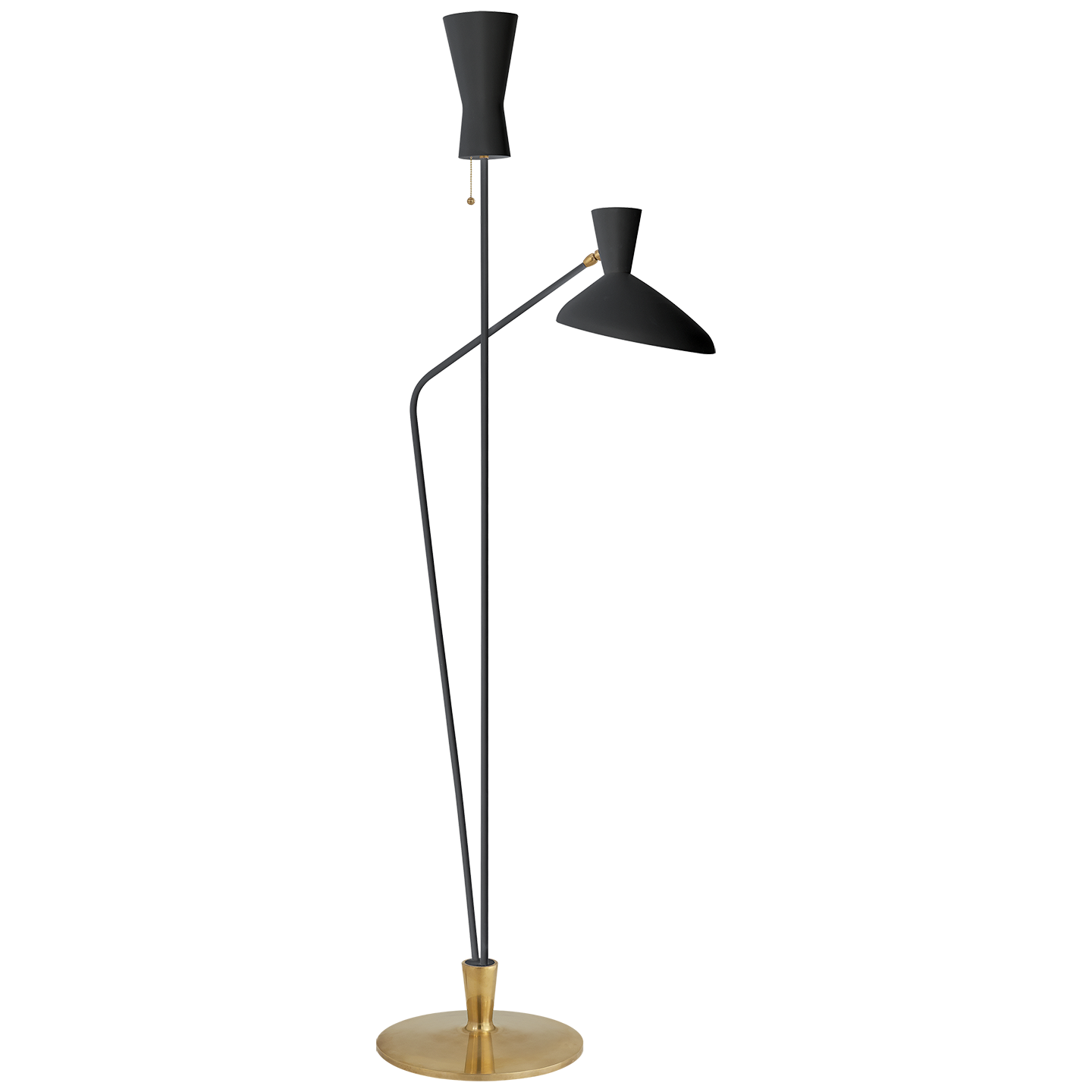 Austen Large Dual Function Floor Lamp in Black Floor