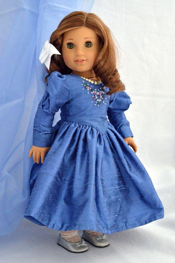 Sumptuous Sapphire Blue Silk 1900s Party Dress for ...