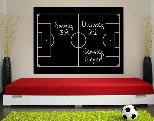 Tafelfolie fu ballfeld tafel pinterest kinderzimmer for Fussball jugendzimmer
