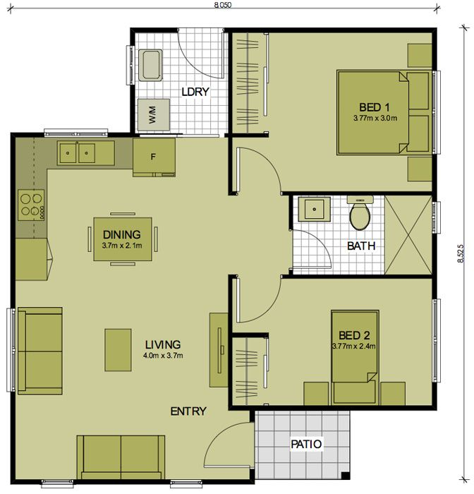 18x50 House Design Google Search: Converting A Double Garage Into A Granny Flat