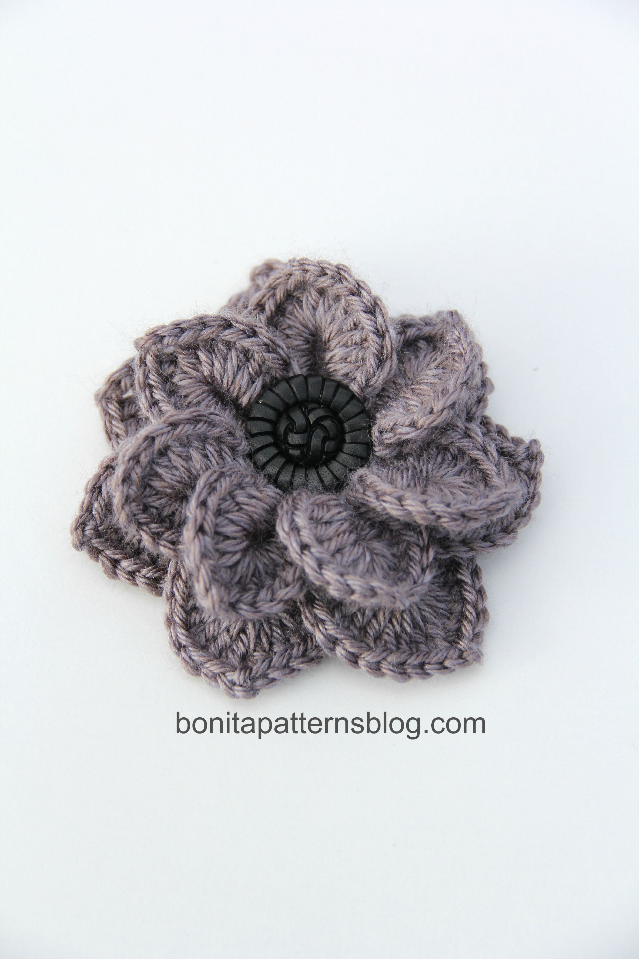 reversible textured slouch and crocodile stitch double layered flower crochet pinterest. Black Bedroom Furniture Sets. Home Design Ideas