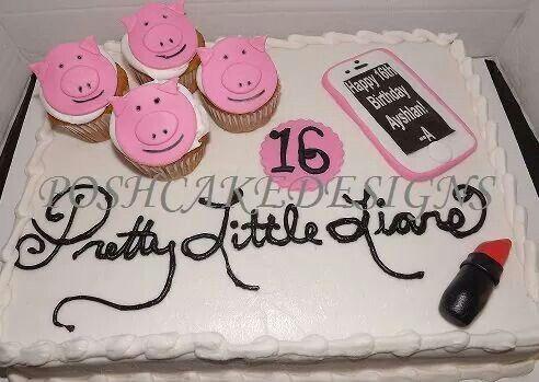 Miraculous Pretty Little Liars Birthday Cake Pll Cake Poshcakedesigns Com Funny Birthday Cards Online Necthendildamsfinfo