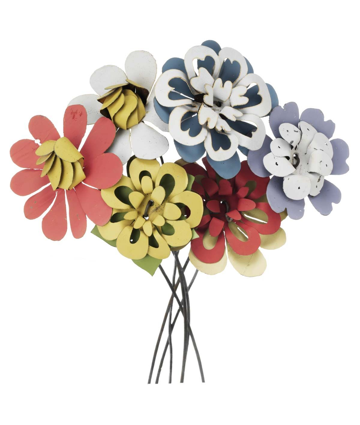 PASTEL RECYCLED TIN BOUQUET   Metal Flowers, Pastels, Garden Decoration   UncommonGoods