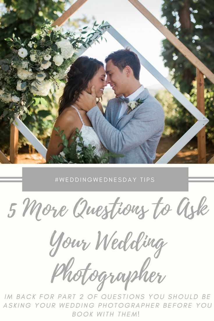 17+ Questions to ask wedding photographer before wedding information