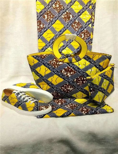 Welcoming Top Quality super wax hollandais 2017New design african bag&purse&african shoes sets for ghana size37-43 A74-28