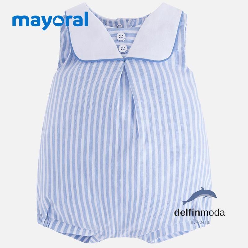 a7f63853f Comprar Pelele recien nacido MAYORAL estilo marino de rayas