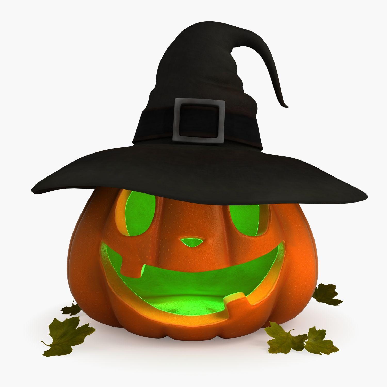 pumpkin Halloween vegetable fruit 3d model food
