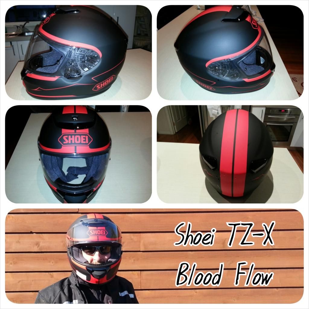 Shoei Helmet TZX Blood Flow Matte Black & Red 6 Sep 2014