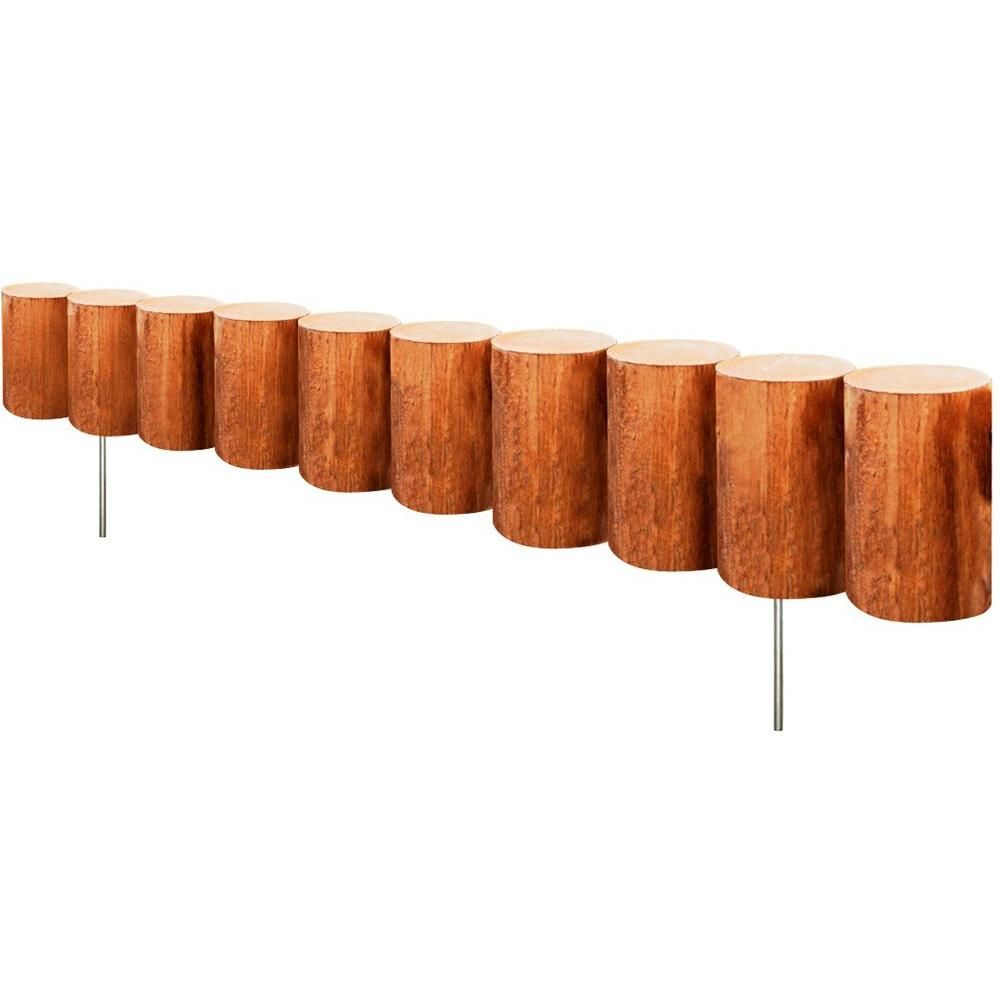 Greenes Fence 30 in. Wood Log Edging-RC43M at The Home Depot | for ...