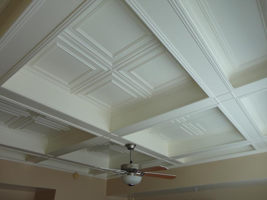cd9a2a6aa4d Cambridge glue nail up Ceilume ceiling tiles.  Design  Ceilume  Ceiling