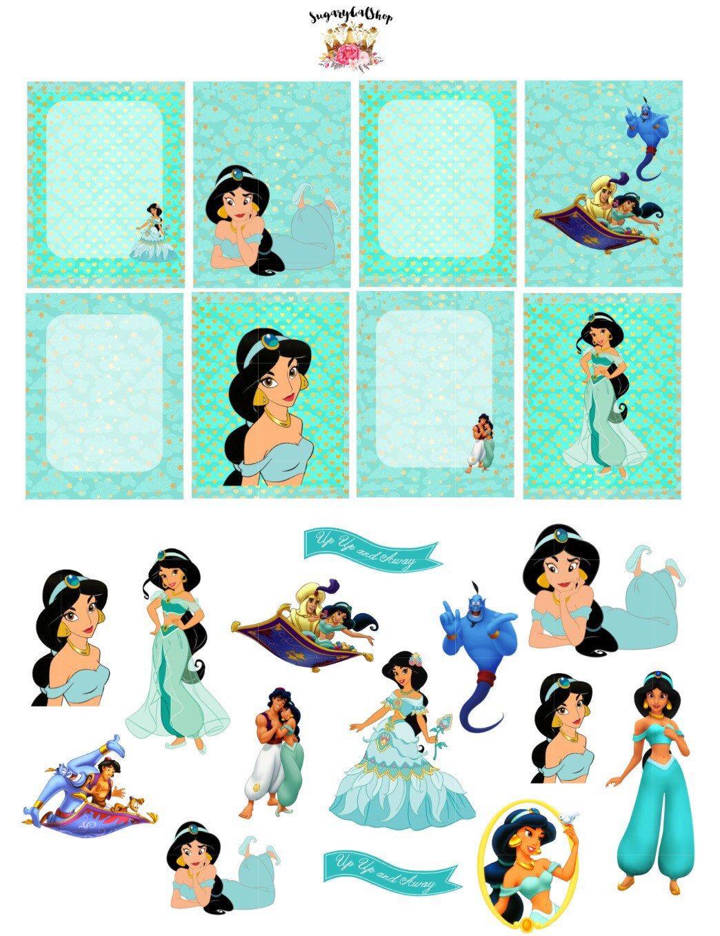 Jasmine Alladin Planner Sticker Set By Sugarygalshop On Etsy