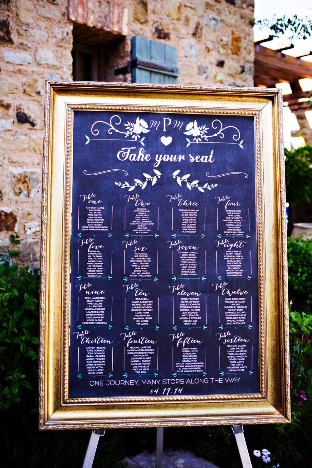 Chalkboard Wedding Table Ignments Board By Letsy