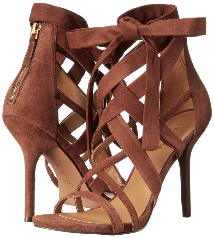 7f24389f7ab5 5 Stars  Flawless Strappy Nine West Heels With Decorative Bows ...