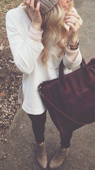 #winter #fashion / white knit