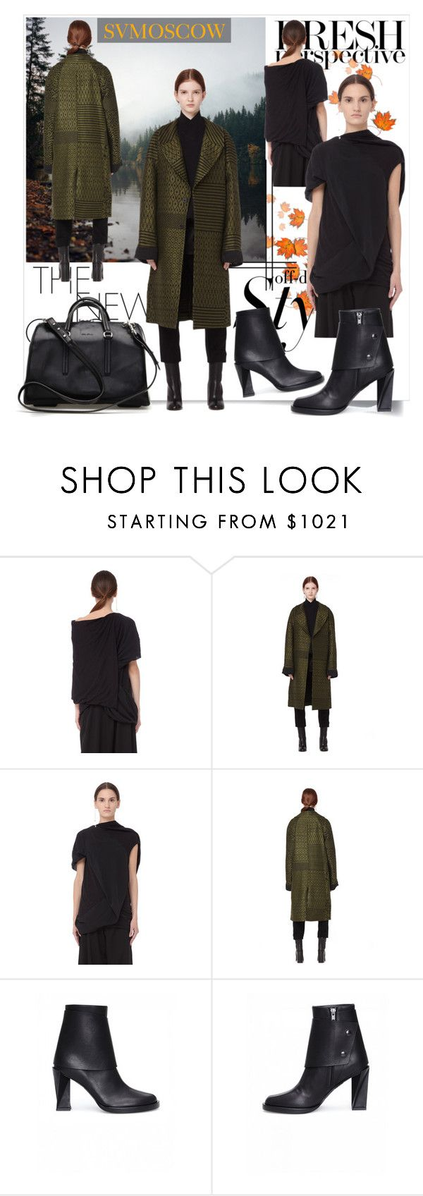 """SVMOSCOW 5"" by fashionb-784 ❤ liked on Polyvore featuring Rick Owens Lilies, Haider Ackermann, Ann Demeulemeester and svmoscow"
