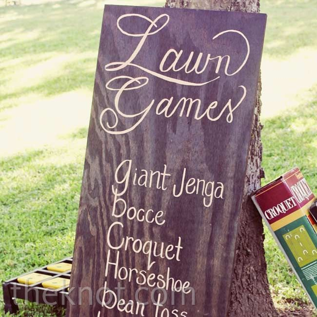 the knot your personal wedding planner lawn games