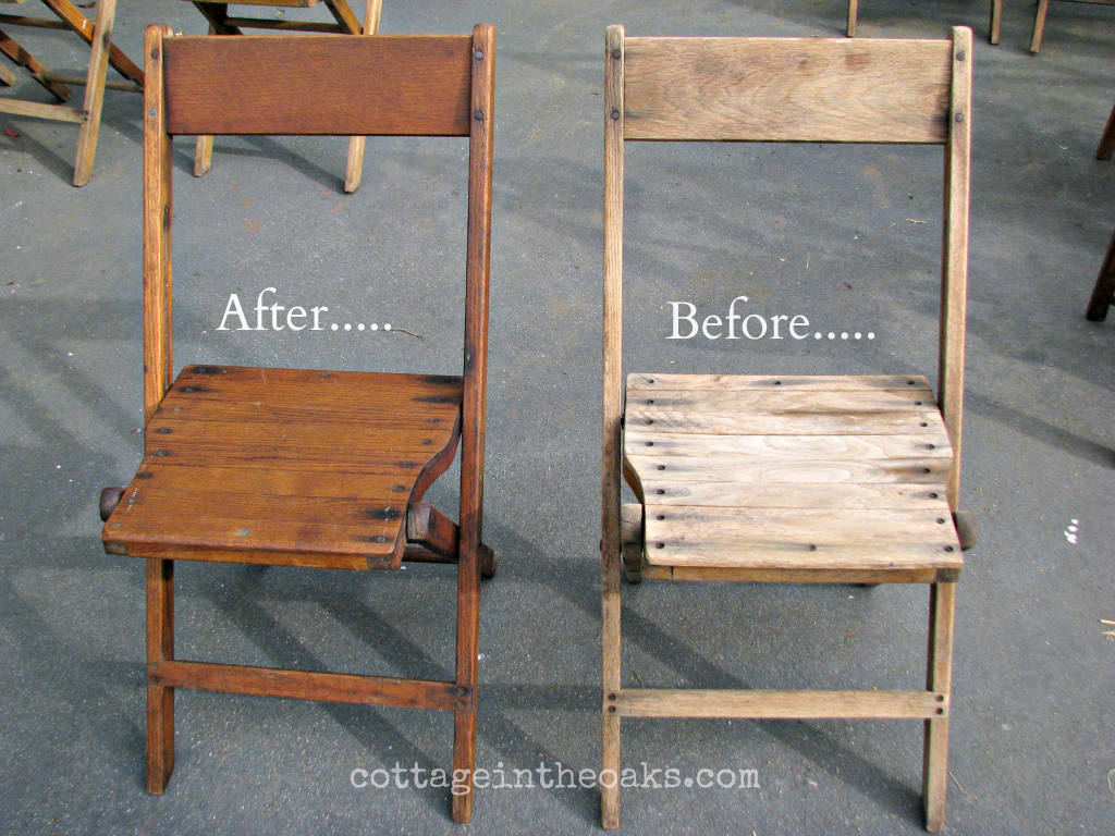 Vintage Wooden Folding Chairs.Scrub Brush With Murphy S Oil Soap Let Dry Over Night Then