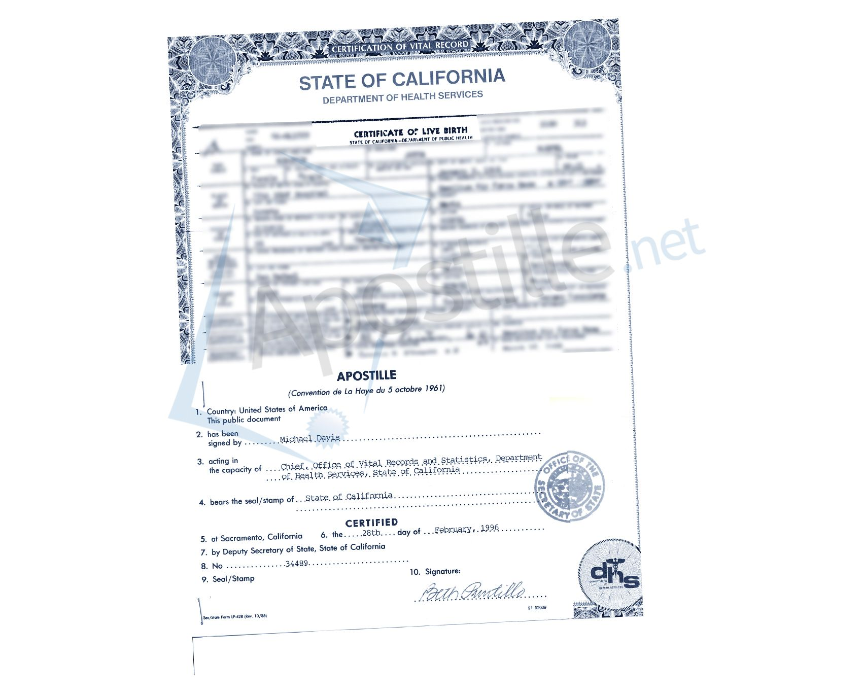 Sacramento certificate of live birth ready for apostille state sacramento certificate of live birth ready for apostille state of california sample apostille pinterest certificate and birth 1betcityfo Images