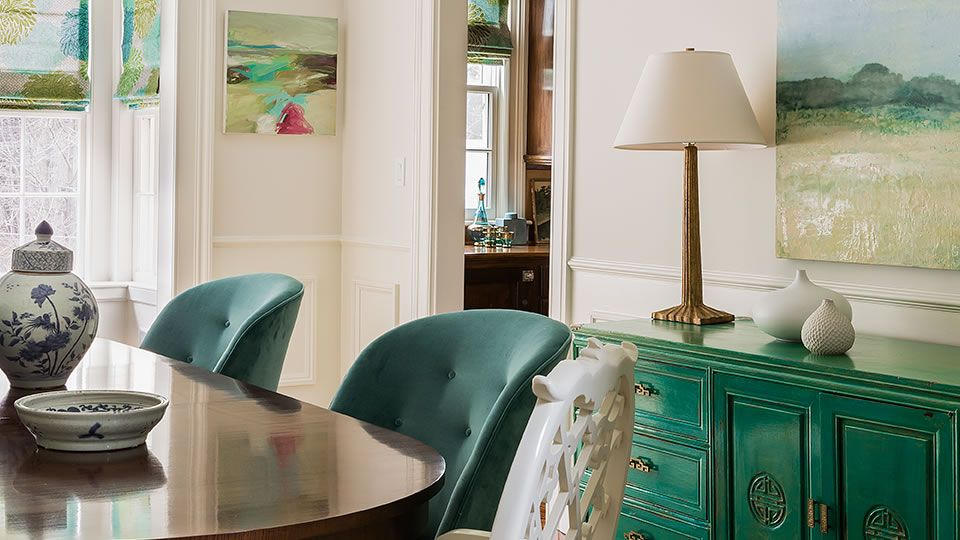 In Living Color: Boston Suburb < prev project   next project > Coming from a coastal environment to Boston, this family wanted the palette to recall the ocean---greens, blues, turquoises were...