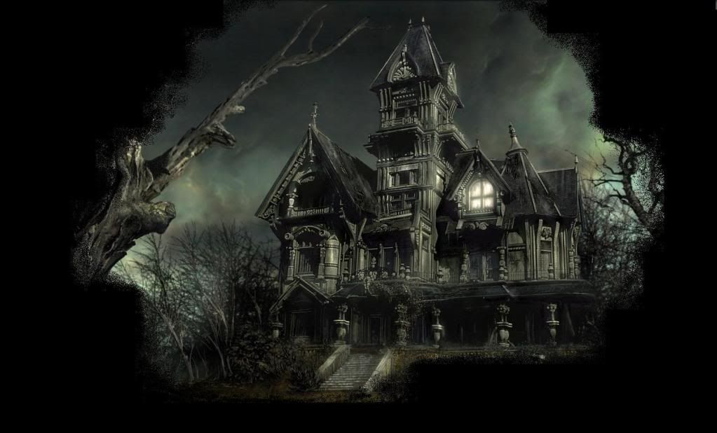 Scary haunted mansions world high resolution scary for Wallpaper with houses on it