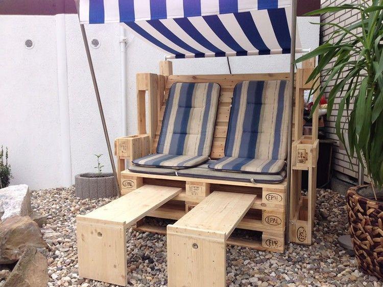 stylish furniture ideas with wooden pallets strandkorb palettenm bel und palletten. Black Bedroom Furniture Sets. Home Design Ideas
