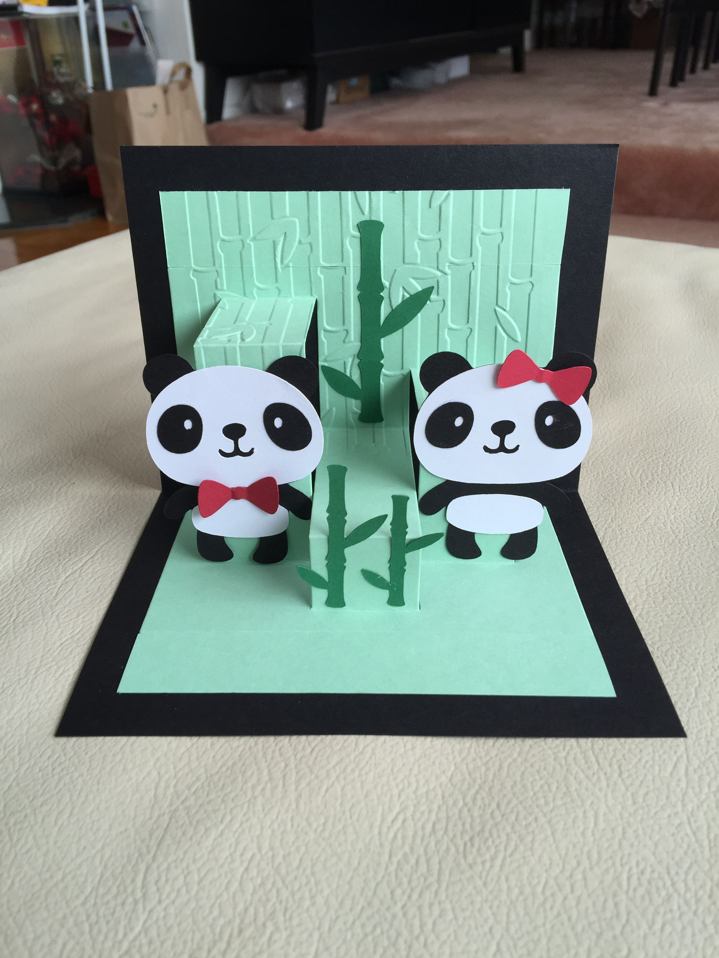 Panda Pop Up Card Panda Card Panda Birthday Cards Birthday Cards Diy