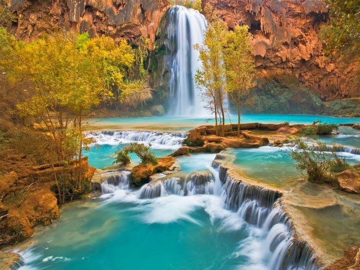 Top 10 Natural Pools Nature Photography Waterfall Wallpaper Beautiful Nature