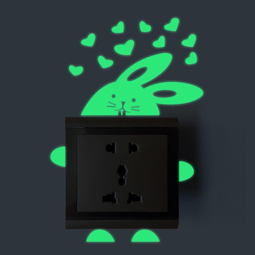 fluorescent Stickers autocollant interrupteur chambre de bébé lumière déco