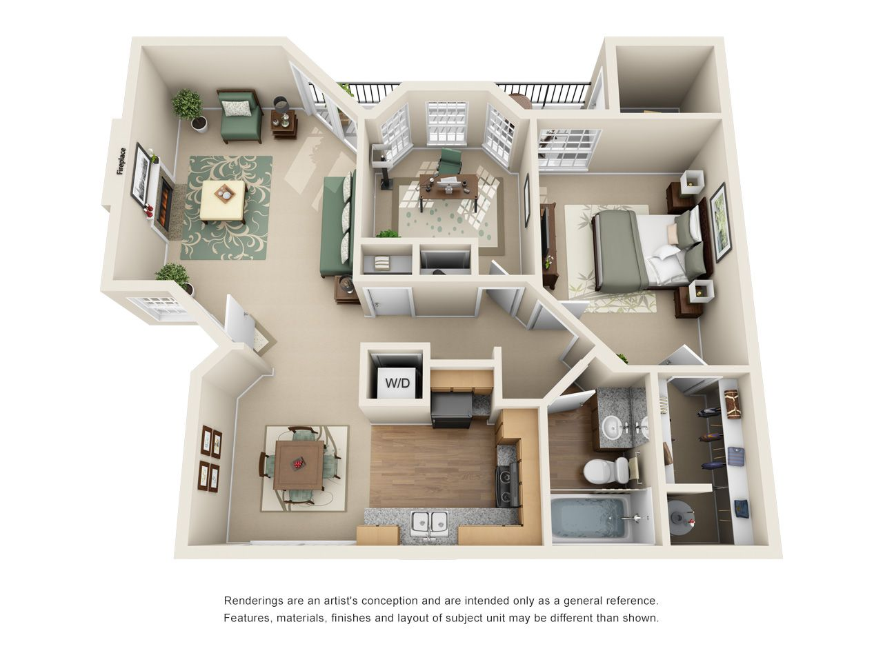 Waterford On The Meadow A3 Renovated Apartment Floor Plans House Plans Small House Plans