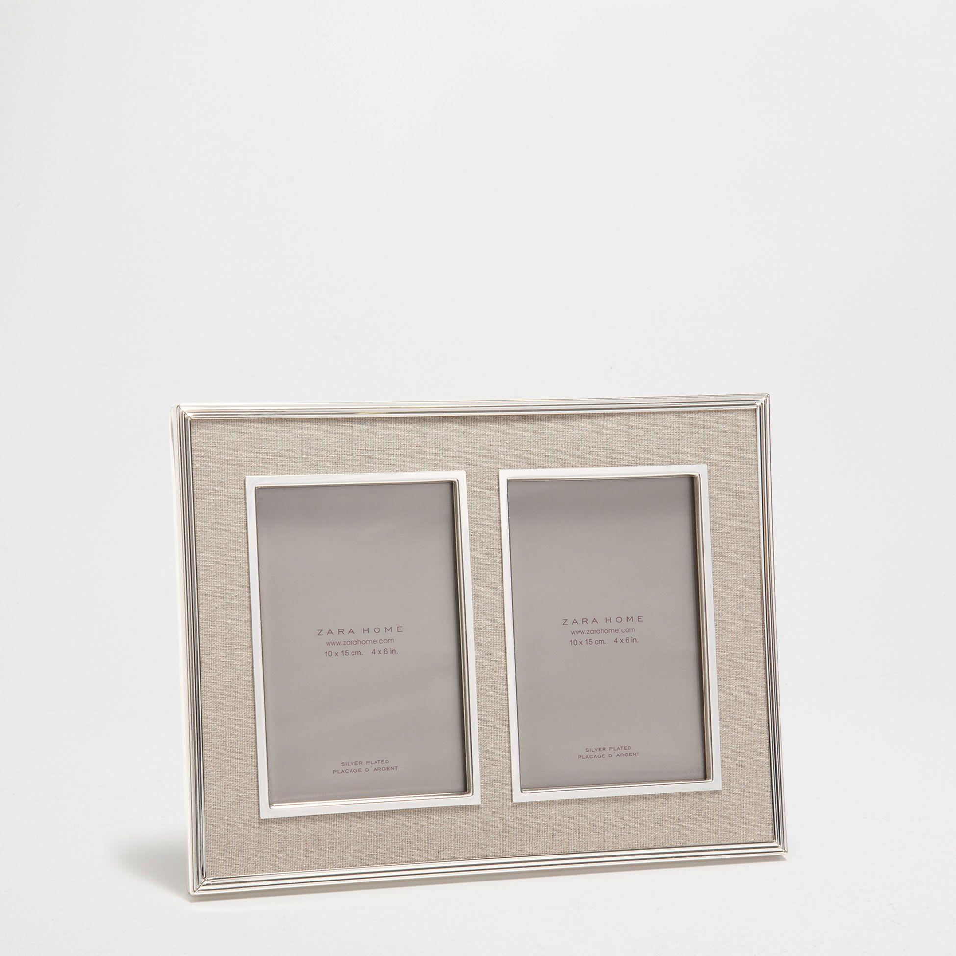 Marco doble metal y lino - Novedades | Zara Home España | Home ...