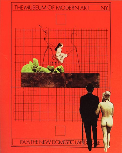 """Italy: The New Domestic Landscape"" Exhibition Poster, Designed by Gruppo 9999, The Museum of Modern Art, New York, 1972"