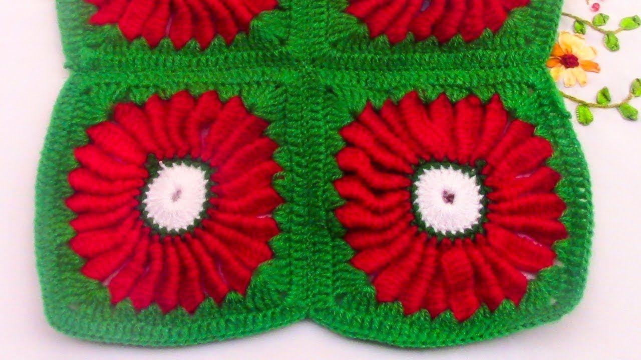Modelo para Colchas y Cojines tejido a crochet, fácil de hacer ...