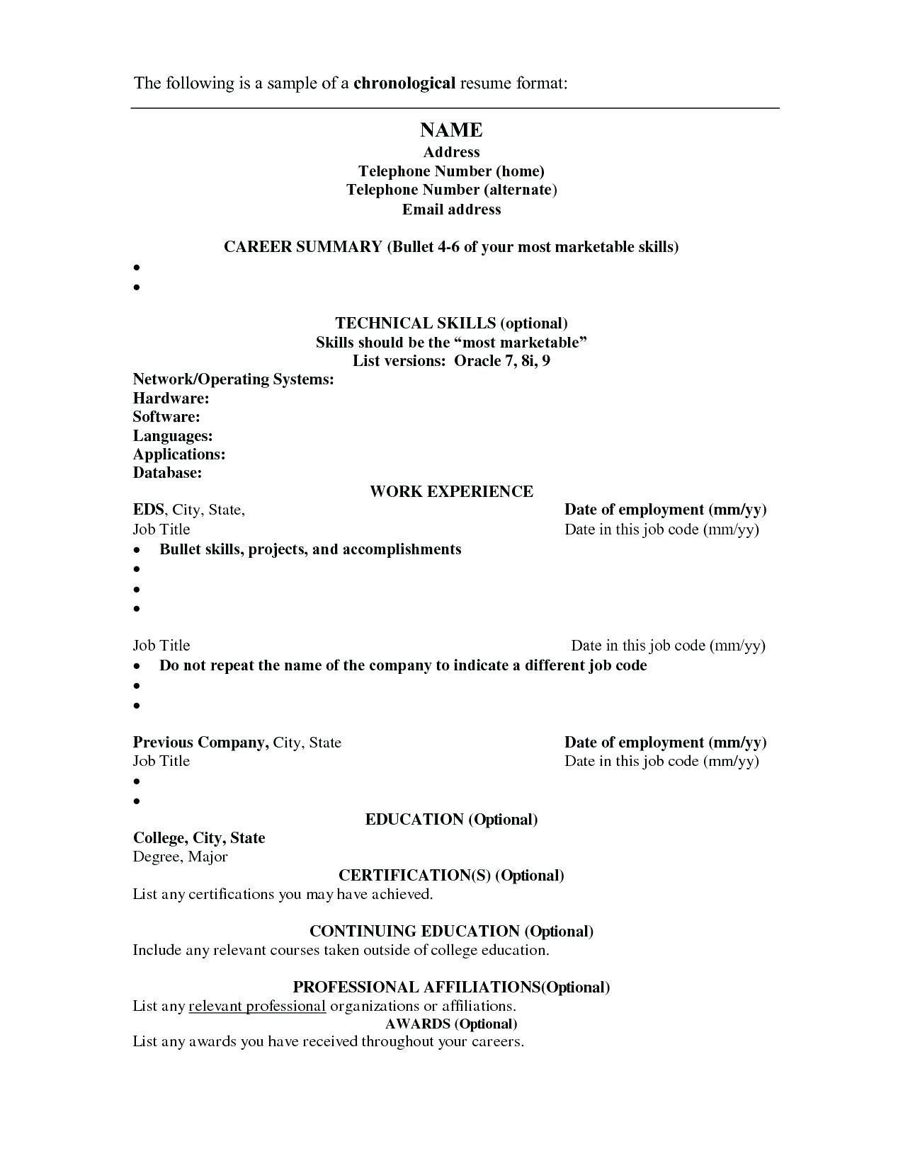 Resume Format Key Skills Resume Format Free Resume Template Word Student Resume Template Resume Skills