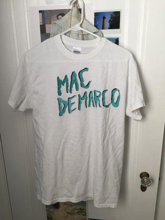 5b4254705f87fa small-xl mac demarco handpainted tshirt by moonriverclothing ...
