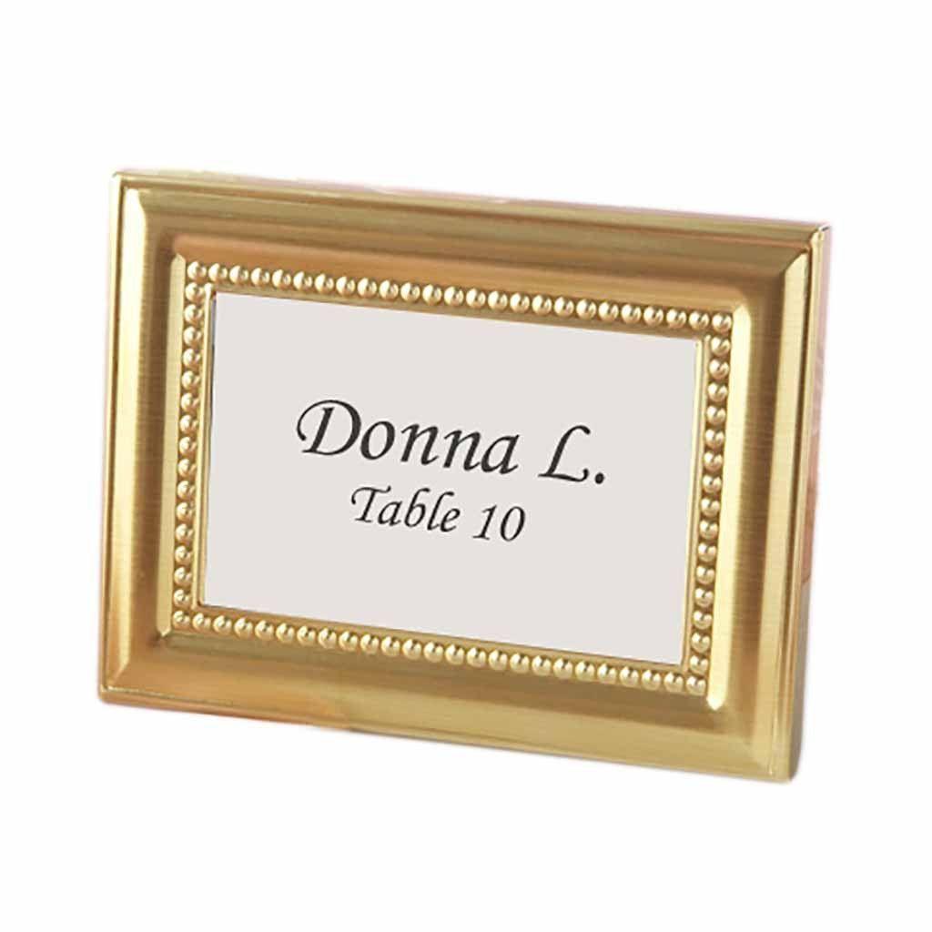 Beautifully Beaded Gold Photo Frame Place Holder (set of 12) | Gold ...