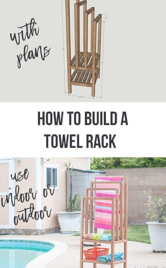 Diy Outdoor Freestanding Towel Rack Pool Towel Rack With