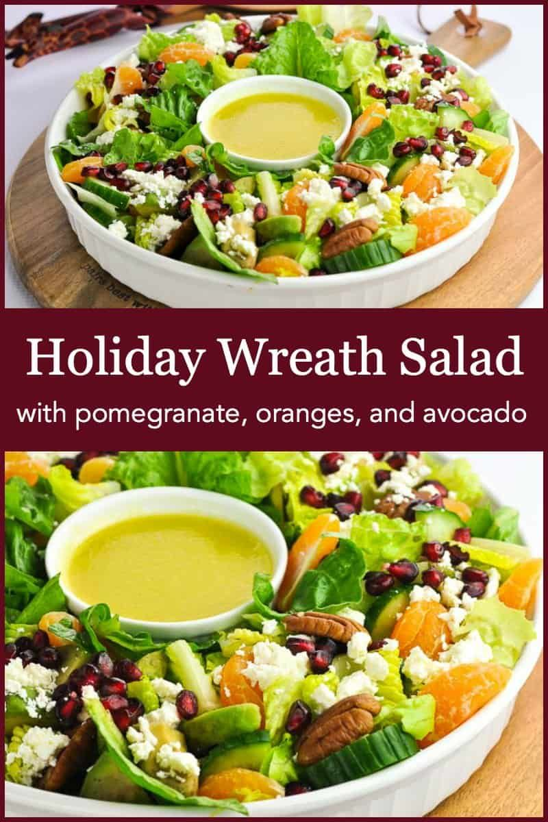 A festive salad for any winter meal! Make it in a holiday wreath shape for fun. Bursting with orang