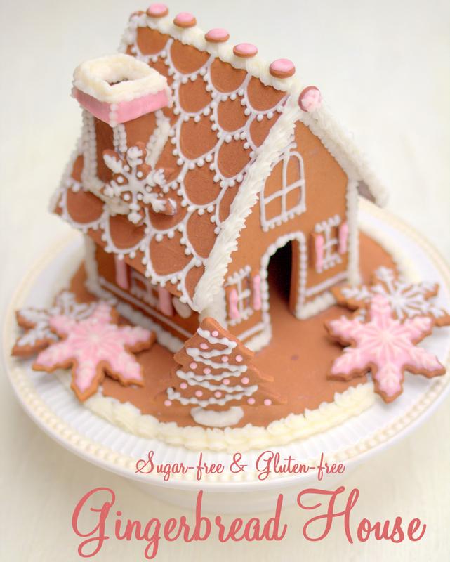Gluten Free Gingerbread House, sugar free gingerbread