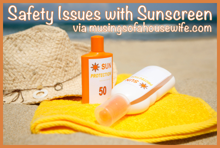 Discussing the safety issues with sunscreen.