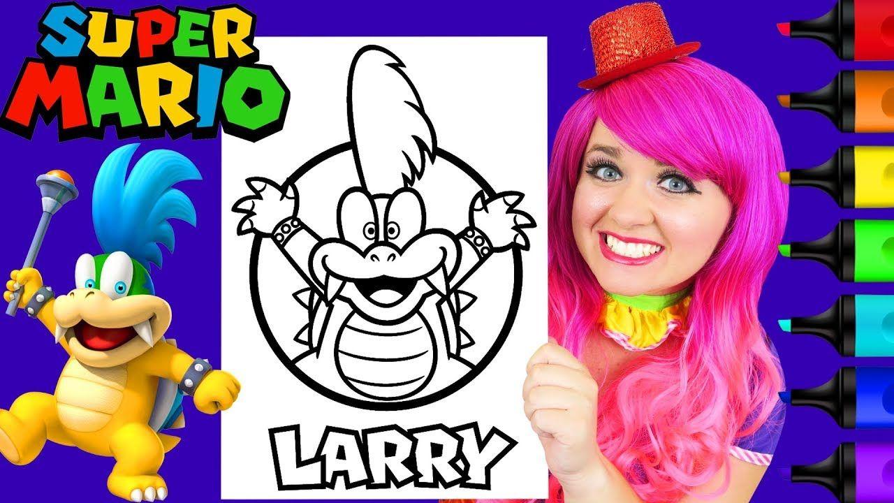 Coloring Larry Koopa Super Mario Nintendo Coloring Page ...