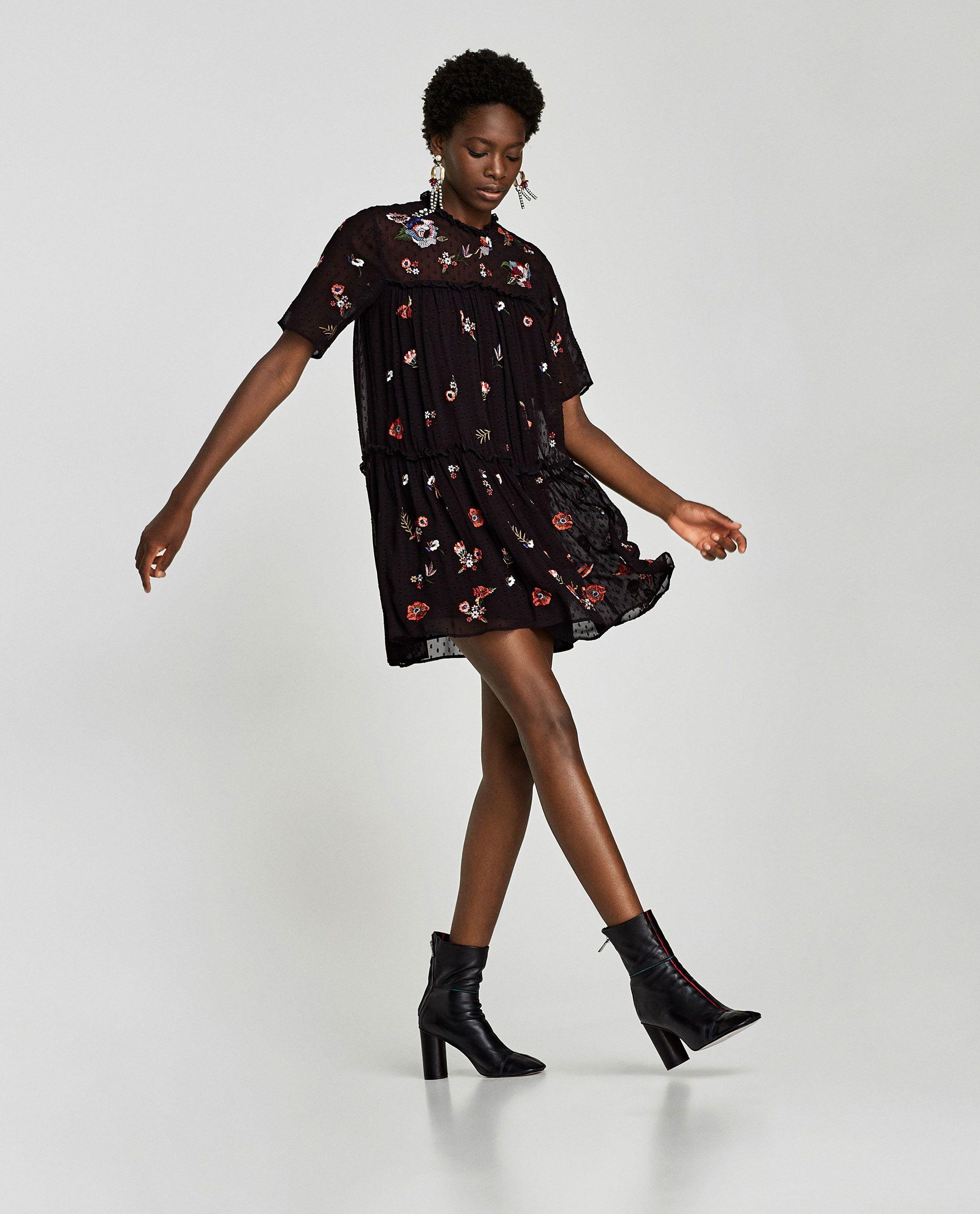 como comprar correr zapatos comprar baratas VESTIDO PLUMETI BORDADOS   ropa   Vestidos de mujer ...