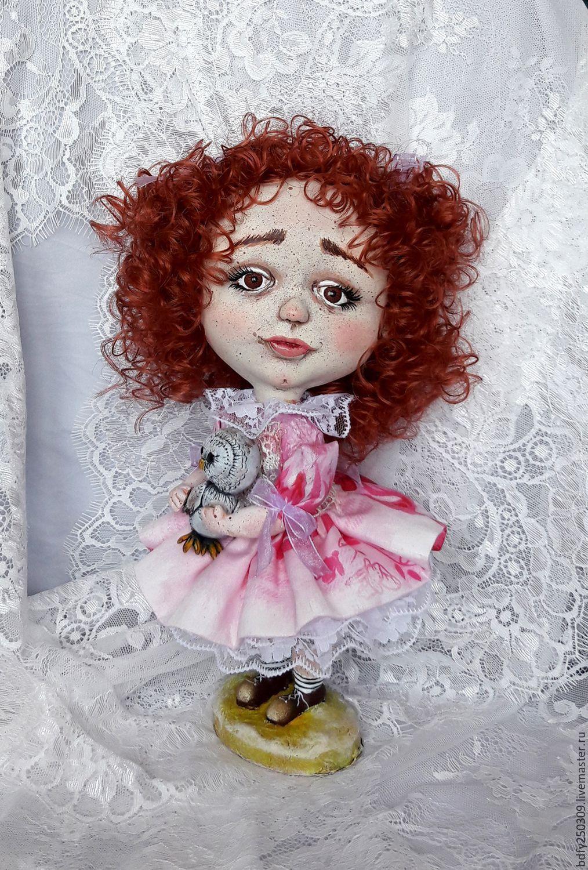 Купить Малышка Сью. - розовый, авторская ручная работа, авторская кукла, авторская игрушка