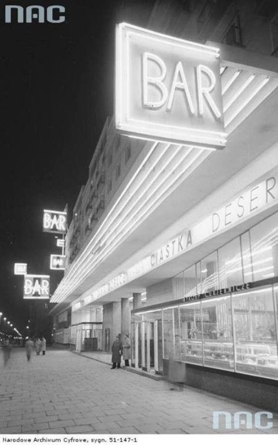 "Bar ""Praha"" - Jerusalem Avenue in Warsaw '50-'60"