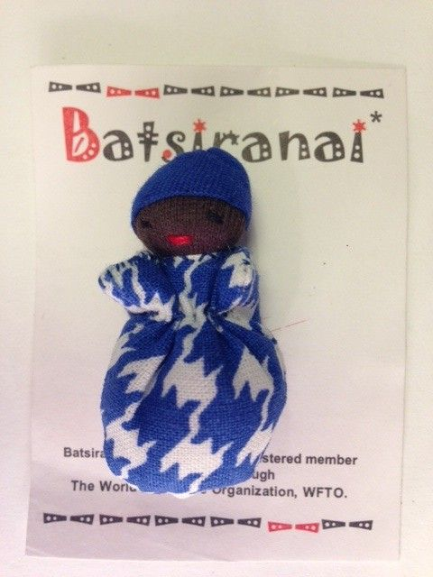 How can any child resists a little blueberry doll.   Hand-made and fair trade.   A unique treasure and gift for any child.