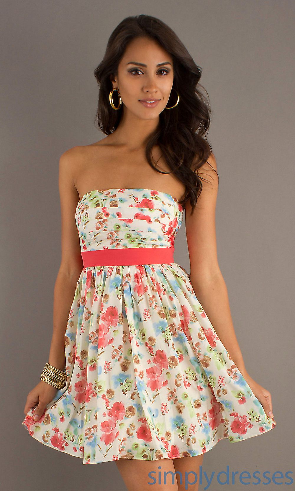 Short Strapless Print Dress Dresses Prom Dresses Printed Short Dresses [ 1665 x 1000 Pixel ]